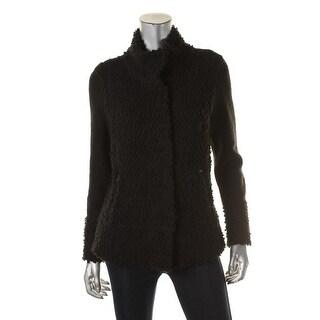 Nic+Zoe Womens Sweatercoat Knit Long Sleeves