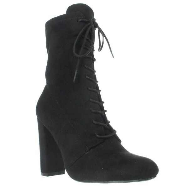 a34568f191a Shop Steve Madden Elley High Top Lace Up Ankle Boots, Black - Free ...
