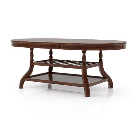 Furniture of America Coso Cherry 78-inch Expandable Dining Table