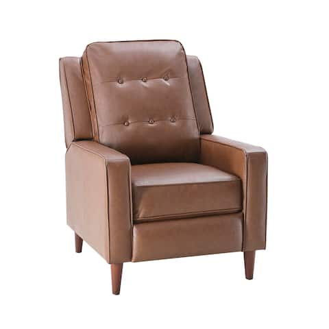 Push Back Recliner Manual Armchair with Accent Chair