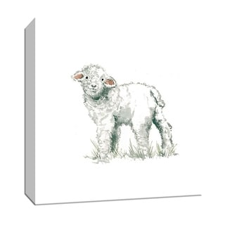 """PTM Images 9-147433  PTM Canvas Collection 12"""" x 12"""" - """"Baby Lamb"""" Giclee Farm Animals Art Print on Canvas"""