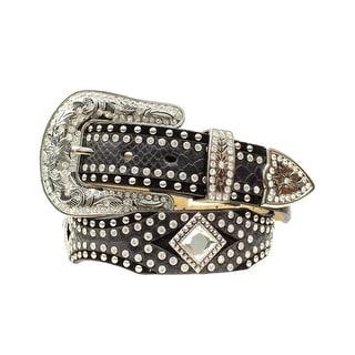 Ariat Western Belt Womens Scallop Diamond Conchos Black
