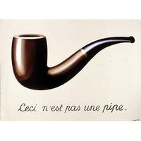 ''Le Trahison des Images, 1929 (small)'' by Rene Magritte Museum Art Print (8.25 x 11.75 in.)