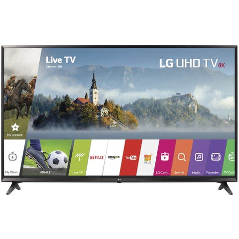 """LG 49UJ63004k49""""Smart LED TV, Black(Certified Refurbished) - Black - 43.7 x 25.6 x 3.1 Inches (Without Stand)"""