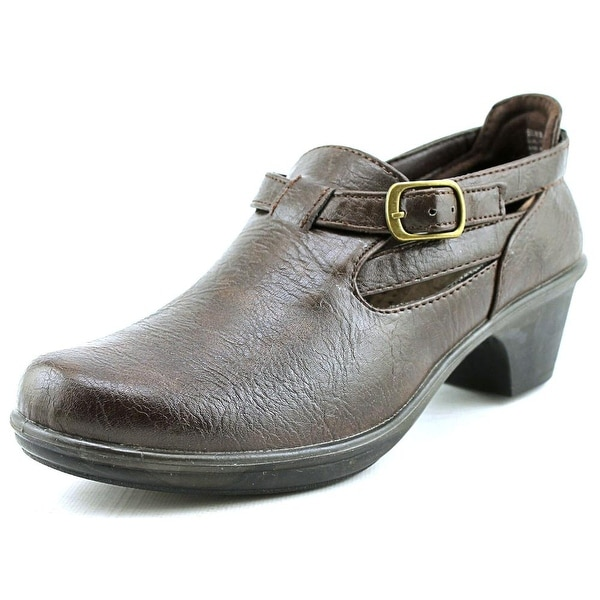 Easy Street Scallion Women N/S Round Toe Synthetic Brown Clogs