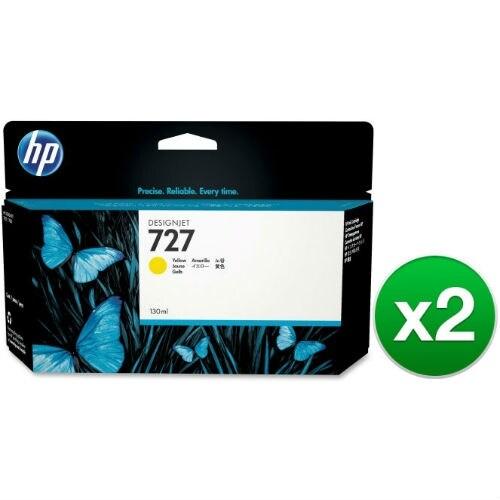 HP 727 130-ml Yellow DesignJet Ink Cartridge (B3P21A) (2-Pack)