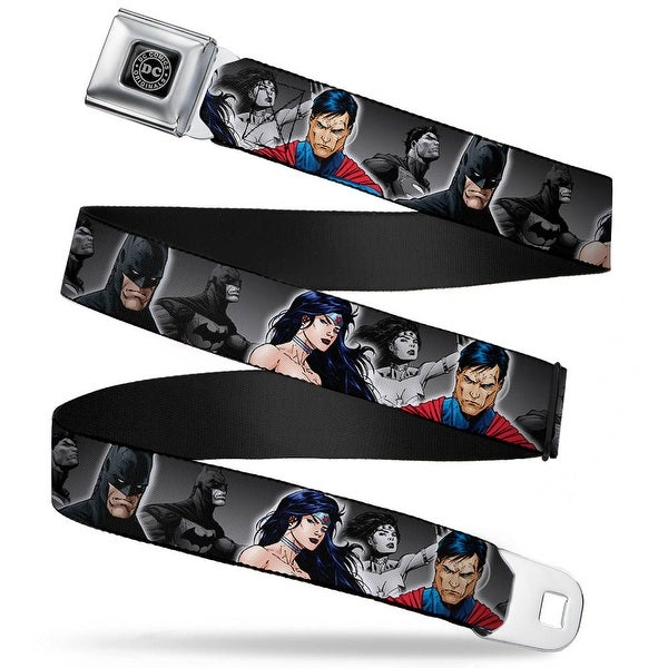 Dc Originals Black Silver Justice League New 52 Wonder Woman Superman Seatbelt Belt