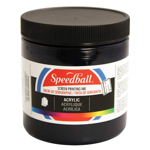 Speedball art products 4631 acrylic waterbase screen printing ink ultra blue 8oz
