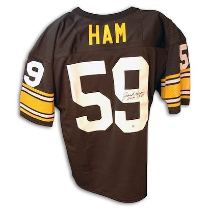 2d521d8681d Shop Autographed Jack Ham Pittsburgh Steelers Throwback black Jersey with  HOF 88 - Free Shipping Today - Overstock - 13071986