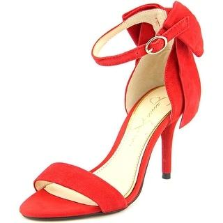 Jessica Simpson Millee Women Open Toe Suede Red Sandals