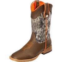 Boys Buckshot Mossy Camo Zip Boots Toddler, Brown - Size 10.5