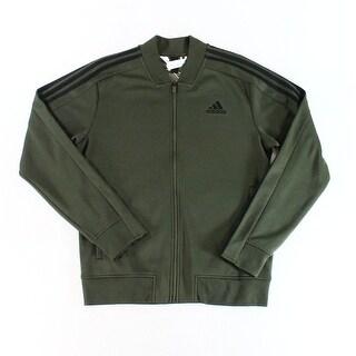 Adidas NEW Green Mens Size Medium M Full Zip Longsleeve Fleece Sweater