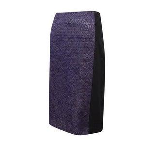 Laundry by Shelli Segal Women's Tweed Boucle Panel Skirt - Acai