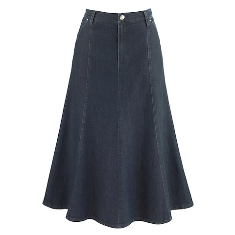 "Women's 8-Gore Denim Riding Maxi Skirt - 31.5"" Long"
