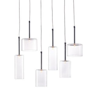 Zuo Modern Hale Pendant Hale 6 Light Pendant with Cylinder Shade