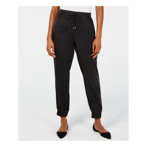 EILEEN FISHER Womens Black Cuffed Pants Size M