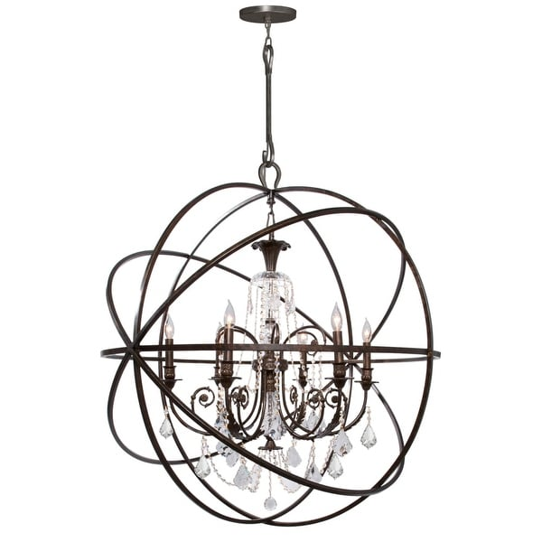 Shop Crystorama Lighting Group 9219 Cl S Solaris 6 Light 40 Wide