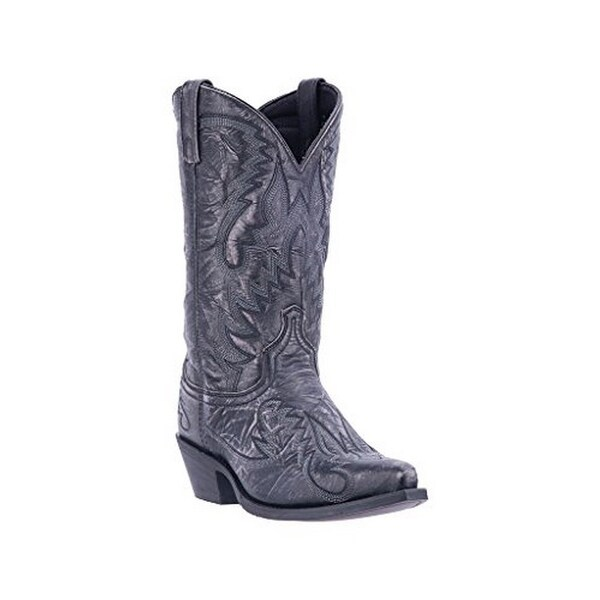 Laredo Mens Cowboy Boots Snip, Black Distressed