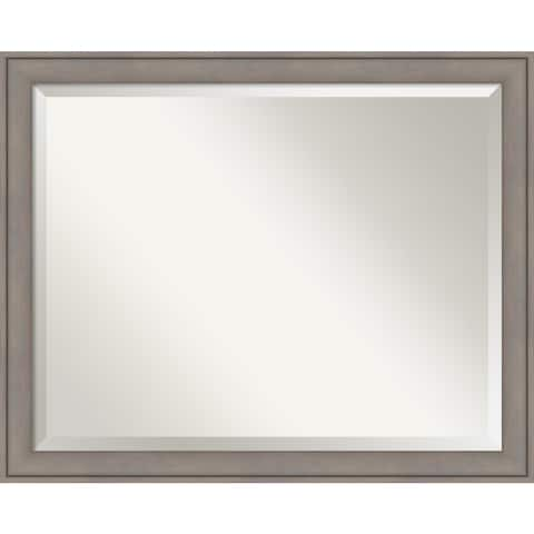 Bathroom Mirror Large, Graywash 32 x 26-inch - 25.38 x 31.38 x 1.12 inches deep