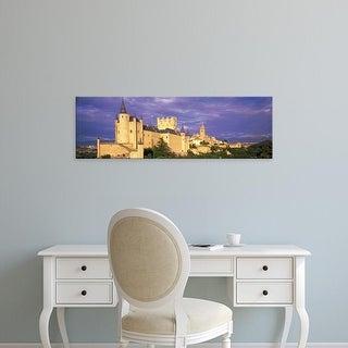 Easy Art Prints Panoramic Images's 'Alcazar Castle Segovia Spain' Premium Canvas Art