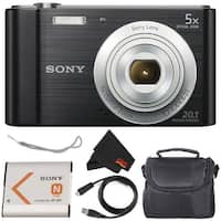 Sony Cyber-shot DSC-W800 20.1 MP Point and Shoot Digital Camera Bundle