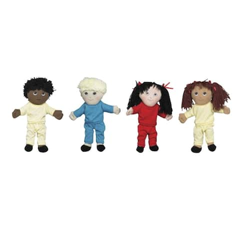 Children's Factory Multi-Ethnic Dolls, Set of 4