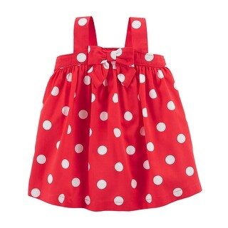 Carter's Baby Girls' 2 Piece Red White Polka Dress - 12 Months