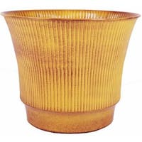 Robert Allen MPT01847 Madison 12 in. Topaz Yellow Metal Planter