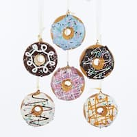 """Club Pack of 24 Vibrantly Colored Decorative Donut Hanging Ornaments 2.75"""" - brown"""
