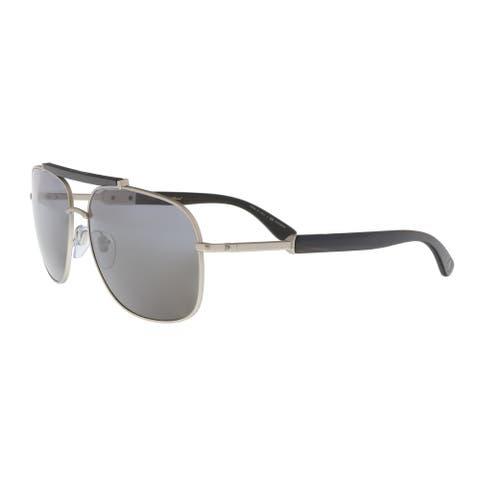 Bulgari BV5040K 200781 Matte Silver Rectangular Sunglasses - No Size