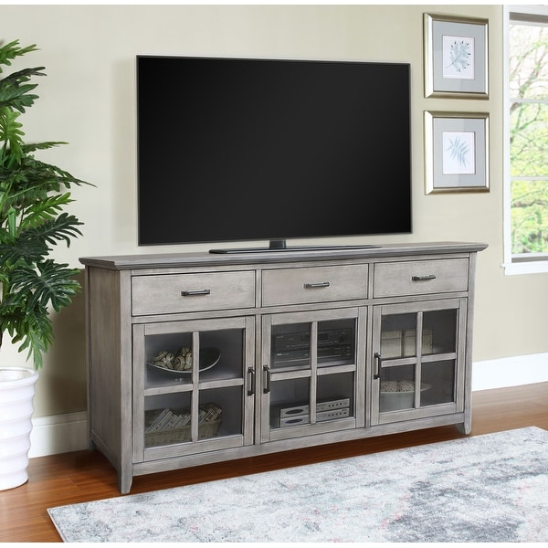 """Abbyson Oliver 70"""" Traditional Wood Media Console. Opens flyout."""