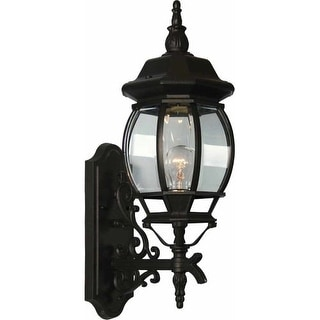 """Volume Lighting V8750 1 Light 23.5"""" Height Outdoor Wall Sconce with Clear Beveled Glass"""