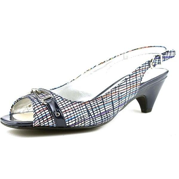 Karen Scott Alissah Open-Toe Canvas Slingback Sandal