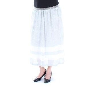 Womens Silver Striped Casual Skirt Size L