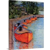 Leslie Saeta Premium Thick-Wrap Canvas entitled Fallen Leaf Lake - Multi-color