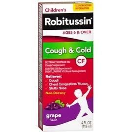 Robitussin CF Children's Cough & Cold Liquid, Grape Flavor 4 oz
