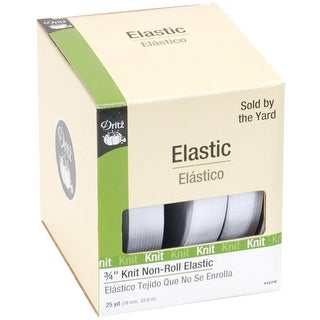 "Knit Non-Roll Elastic 3/4""X25yd-White"