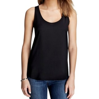 French Connection Womens Tank Top Scoop Neck Heathered