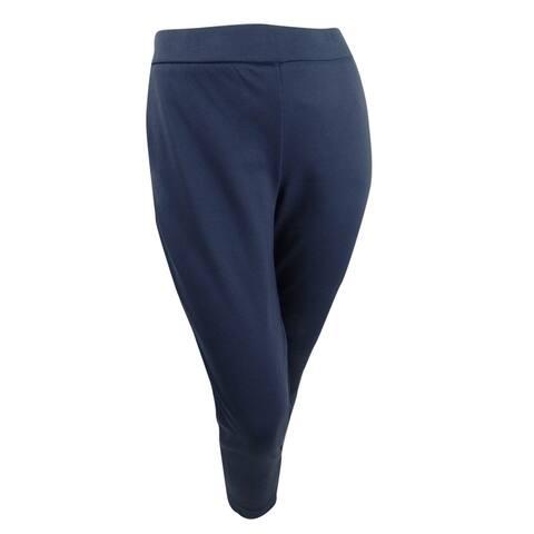 Michael Michael Kors Women's Plus Size Pull-On Slim-Leg Pants (1X, True Navy) - 1X