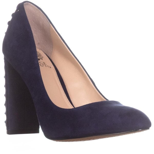 Vince Camuto Dallan Back Lace Up Heels, Navy Haze - 7.5 us