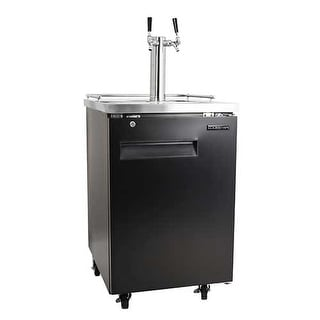 EdgeStar ECK242CKIT 24 Inch Wide Double Tap Kegerator with Included Dispenser Co