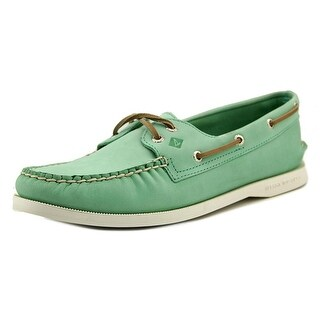 Sperry Top Sider A/O 2 Eye Wax Leather Women Moc Toe Leather Boat Shoe