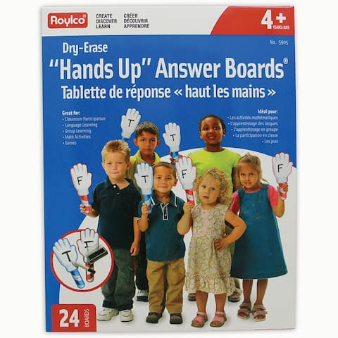 Roylco hands up dry erase answer boards 905