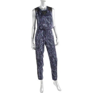 Rachel Rachel Roy Womens Sleeveless Printed Jumpsuit