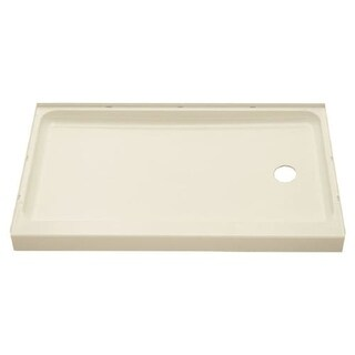 """Sterling 72171120 Ensemble 60"""" x 30"""" x 5"""" Vikrell Shower Pan with Drain Right"""