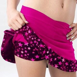 Pizzazz Girls Hot Pink Superstar Ruffle Skirt Shorts Dance Cheer 2T-16