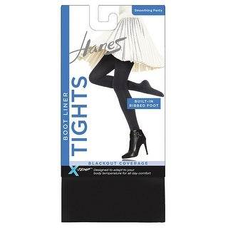 Hanes X -Temp Blackout Boot Liner Tight with Smoothing Panty - S