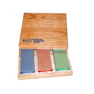 DMT W6EFC Diamond Whetstone Set, Hardwood Box, 3 x 6 in.