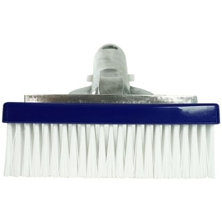 "5.5"" Swimming Pool Bristle Brush Head with Aluminum Handle - Silver"