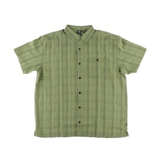 White Sierra Mens Plaid Short Sleeves Casual Shirt - L